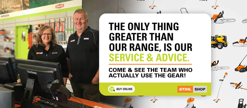 Stihl NP Website Home Page Change To Winter Service Advice Banner